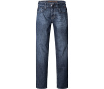 Herren Jeans, Regular Fit, Baumwoll-Stretch, jeansblau