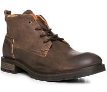 Herren Schuhe Stiefelette, Leder, caramel braun