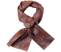 Herren  Krawattenschal Seide Paisley braun