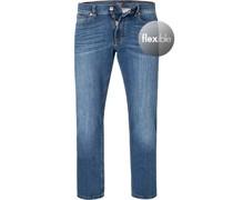 Jeans John Baumwoll-Stretch blau