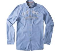 Herren Hemd Freeboard Regular Fit Baumwolle hellblau
