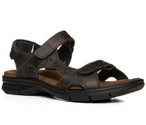 Herren Schuhe Sandalen Nappaleder dunkelbraun braun,braun