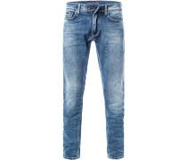 Jeans Slim Fit Baumwoll-Stretch 12oz hell