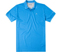 Herren Polo-Shirt Coolmax® azurblau