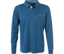 Herren Polo-Shirt, Baumwolle, blau