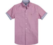 Herren Hemd New York Fit Popeline fuchsia-weiß gemustert rosa