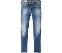 Herren Jeans Slim Fit Baumwoll-Stretch
