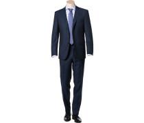 Herren Anzug Modern Fit Schurwolle GUABELLO dunkelblau gemustert