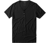Herren V-Shirt Lyocell-Baumwolle schwarz