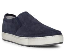 Schuhe Slipper Leder dunkel