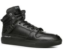Herren Schuhe Sneaker Leder-Textil schwarz schwarz,schwarz