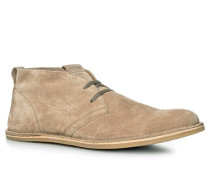 Herren Schuhe Stiefeletten Leder beige