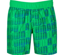 Herren Bademode Badeshorts, Microfaser, grün-blau
