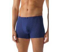 Herren Unterwäsche Trunk Baumwoll-Stretch blau gemustert