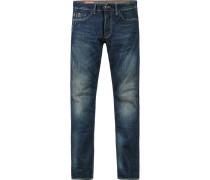 Herren Jeans Baumwoll-Stretch 12 oz blau