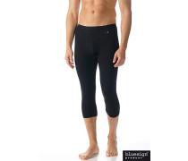 Herren 3/4 lange Unterhose, Microfaser, schwarz