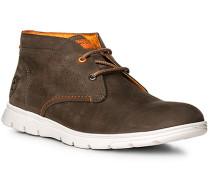 Herren Schuhe Desert Boots, Nubukleder, dunkelbraun