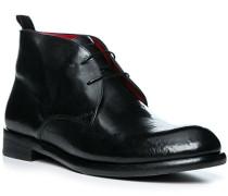 Schuhe Desert Boots Leder nero