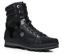 Herren Schuhe Stiefel Kalbleder warm gefüttert schwarz schwarz,schwarz