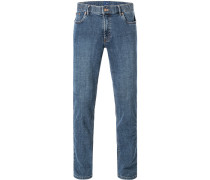 Herren Jeans Seth, Tailored Fit, Baumwoll-Stretch, blau