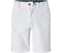 Hose Bermudashorts Regular Fit Baumwolle white