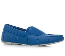 Herren Schuhe Loafer, Mesh-Kautschuk, blau