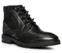 Herren Schuhe Stiefelette, Leder, schwarz