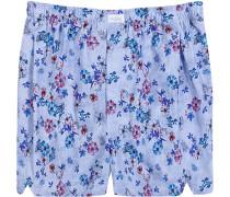Herren Unterwäsche Boxershorts Baumwolle blau gemustert