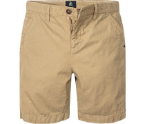 Herren Hose Shorts Regular Fit Baumwolle camel beige