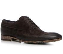 Schuhe Derby Kalbvelours testa di moro