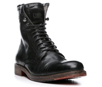 Herren Schuhe Stiefeletten Ziegenleder schwarz