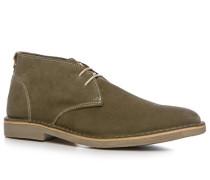 Herren Schuhe Desert Boots Veloursleder khaki