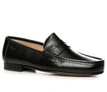 Herren Schuhe Slipper Kalbnappaleder schwarz schwarz,braun