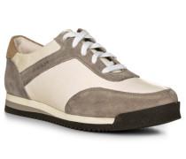 Herren Schuhe Sneaker, Veloursleder-Leder, hellgrau