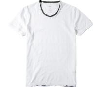 Herren T-Shirt, Baumwolle, weiß meliert