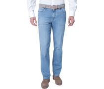 Herren Jeans Kirk, Contemporary Fit, Baumwoll-Stretch, blau