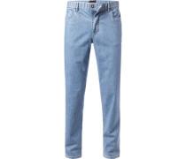 Herren Jeans Kirk, Contemporary Fit, Baumwoll-Stretch, hellblau