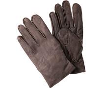 Herren  Handschuhe Büffelleder graubraun