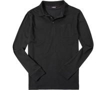 Herren Polo-Shirt Baumwoll-Jersey schwarz