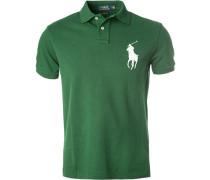 Herren Polo-Shirt, Custom Slim Fit, Baumwoll-Piqué, dunkelgrün