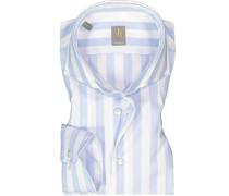 Hemd Custom Fit Baumwolle weiß- gestreift