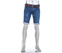 Jeansbermudas Bike, Regular Slim Fit, Bio Baumwoll-Stretch 11oz