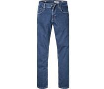 Herren Jeans Comfort Fit Baumwoll-Stretch dunkelblau