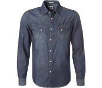 Herren Hemd, Slim Fit, Jeans, indigo blau