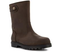 Schuhe Stiefel, Leder wasserfest, dunkel