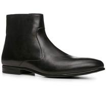 Herren Schuhe Stiefeletten Leder schwarz schwarz,blau