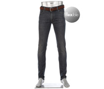 Jeans Slim Fit Baumwoll-Stretch 11oz tiefsee