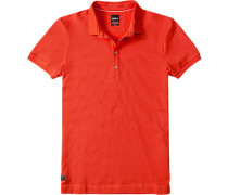 Herren Polo-Shirt, Slim Fit, Baumwoll-Piqué, feuerrot