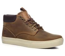 Herren Schuhe Schnürstiefeletten Nubukleder braun