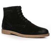 Herren Schuhe Stiefeletten Veloursleder schwarz schwarz,braun